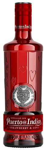 Gin Puerto de Indias - Edición Limitada Strawberry Premium - Ginebra Rosa con Fresas Naturales - 70 cl - 37.5%