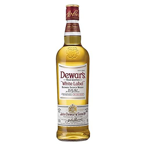 DEWAR'S Whisky Escocés, White Label 5 Años Doble Envejecimiento para Mayor Suavidad , 700ml