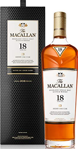 Macallan Sherry Oak 18 Años Single Malt Whisky Escocés, 43% - 700 ml