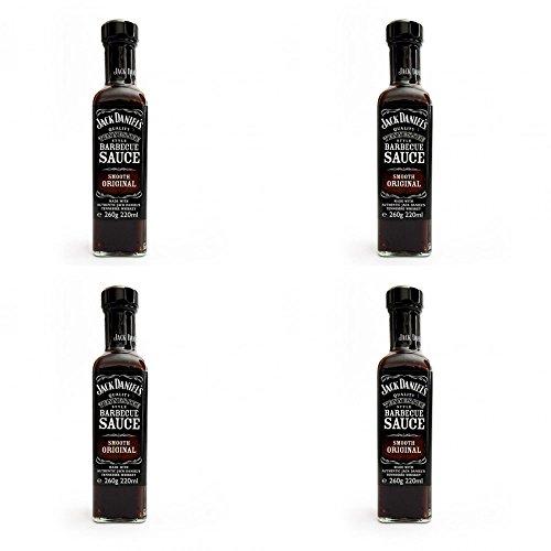 Jack Daniel's 4 salsas para barbacoa Smooth Original BBQ 260 g