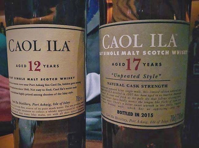 dos botellas de Caol Ila